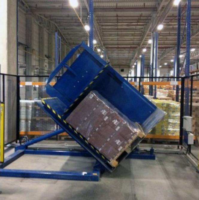 Stapro Machinebouw palletkantelaar blauw